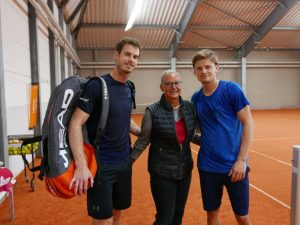 Andy Murray, Dr. Eva-Maria Steiner, David Goffin