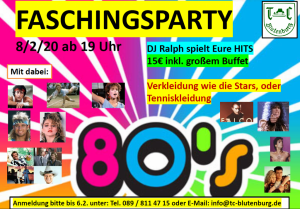 Fachingsparty @ TC Blutenburg